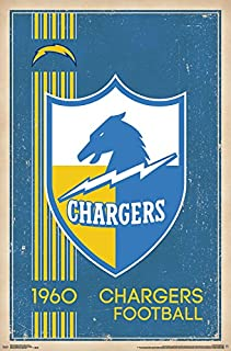 Trends International Los Angeles Chargers Retro Logo Wall Poster 22.375