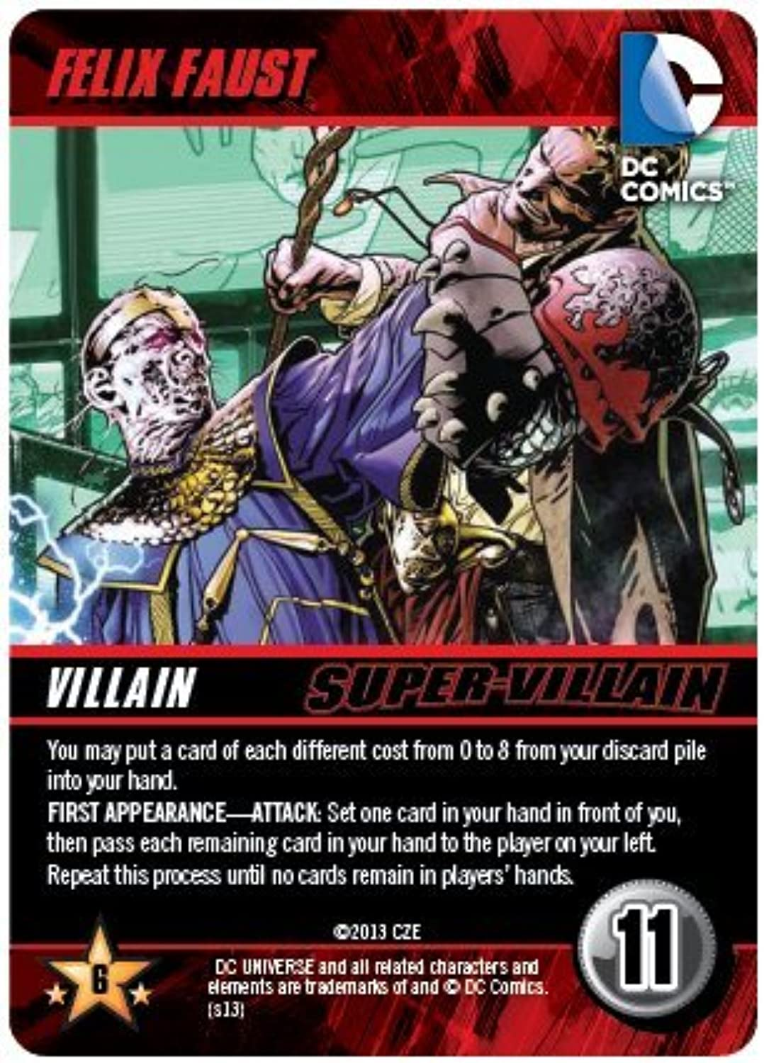 Felix Faust Super Villain DC Comics Deck Building Game Promo by DC Comics