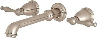 Kingston Brass KS7028NL Naples Roman Tub Filler 10-7/16 Inch in Spout Reach Brushed Nickel