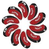 Callaway coprimazza ferri golf 10pcs/set rosso/nero MT/C10...