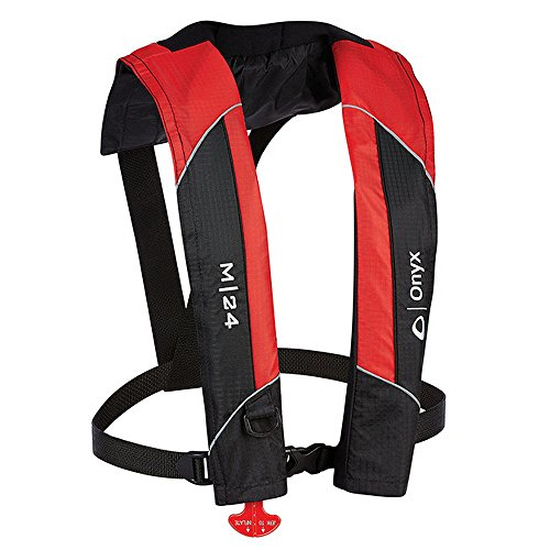 1 - Onyx M-24 Manual Inflatable Life Jacket PFD - Red