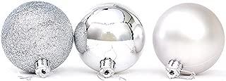 Yansanido 24pcs Small Christmas Ball 3cm Ornaments Shatterproof Christmas Decorations Tree Balls Multicolor Pastel Tree Ornaments Pendant (1.18 inch 24pcs Silver)