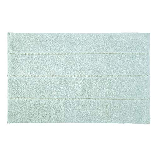 Price comparison product image iDesign Stripe Bathroom Mat,  Rectangle-Shaped Small Rug Made of Cotton,  Spa Blue,  53.3 cm x 86.4 cm