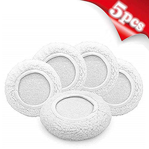 AIVS Car Polisher Pad Wool Bonnet Buffing Wheel Polishing Pad Waxer Pads for Car Buffer bonnets Polisher, 5 pieces(7'-8')