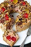 Grandma's Gourmet No Sugar Added Fruitcake   One Gram of Sugar Per Serving   Keto Diabetic Friendly Gourmet Holiday Candied Fruit and Nut Cake   24 oz Ring