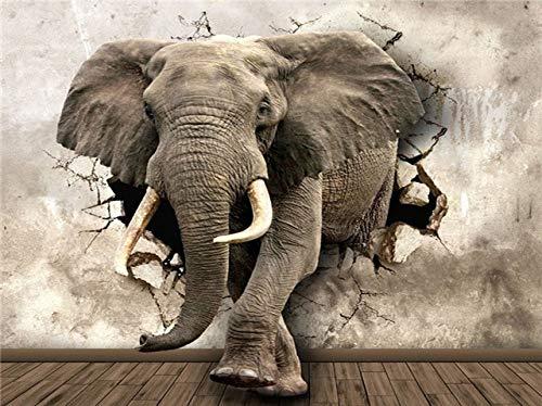 DIY 5D diamante pintura bebé elefante kits de punto de cruz taladro completo bordado diamante mosaico animales imagen artística A7 40x50cm