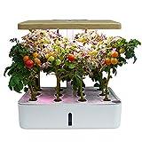 Jardin Intérieur, Potager d'Intérieur Bio,Lampe LED de croissance pour plantes d'intérieur,Jardin d'intérieur intelligent, Potager hydroponique, Système LED et irrigation automatique, Réservoir 4L