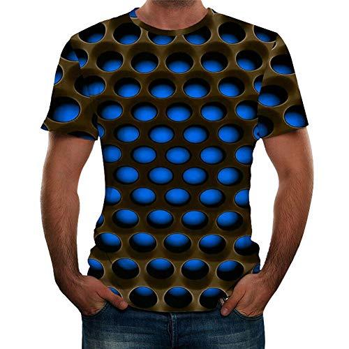 PerGrate Herren T-Shirt mit 3D-Grafik und Tintenstrahldrucker für den Sommer