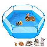 Amakunft Cage pour petits animaux portable, respirante et transparente, clôture d'exercice en intérieur/extérieur pour cochons d'Inde, lapins, hamsters, chinchillas et hérissons