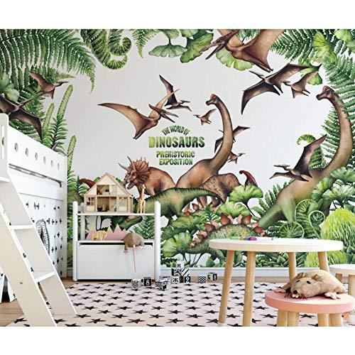 Origineel Wald-dinosaure-behang voor kinderkamer, 3D-behang, contactbehang, 280 cm (breedte) x 180 cm (hoogte)
