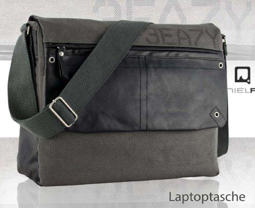 DANIEL RAY Umhängetasche NEVADA L Schultertasche Laptop Tasche Anthrazit