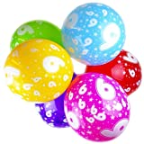 Happium 10x Globos Perlados de Látex para 30cm Cumpleaños Número 9