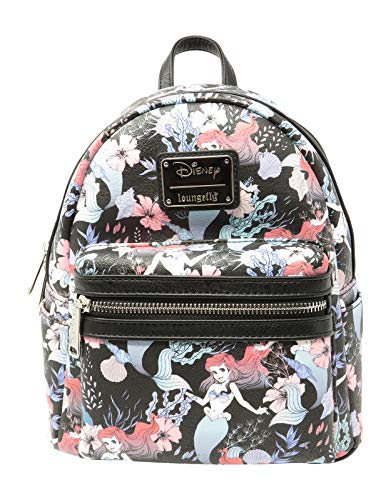 Ariel Floral Print Faux Leather Mini Backpack