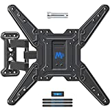 Mounting Dream Full Motion TV Wall Mount Bracket for 26-55 Inch TVs, Swivel TV Wall Mount – Wall Mount TV Bracket with TV Center Design & Extend 19 Inch, up to VESA 400x400mm and 60LBS