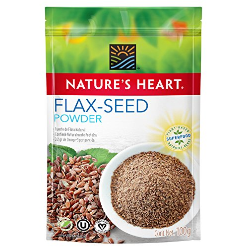 Nature's Heart Superfood Orgánico Semillas de Linaza Molidas, 100 g