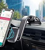 Cocoda Soporte Movil Coche, Iman Coche Móvil con Rotación de 360° para Salpicadero, con Ventosa de Gel Fuerte y 2 Placas de Metal Adheribles, Compatible con iPhone 12 Pro MAX SE, Galaxy S20