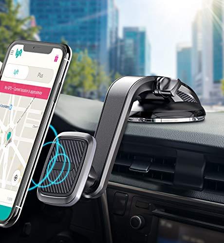 Cocoda Porta Cellulare da Auto, Supporto Cellulare Auto Magnetico con Rotazione a 360°, Ventosa Adesiva, Braccio Regolabile e 6 Potenti Magneti, Adatto per Parabrezza Cruscotto e Tutti Gli Smartphone