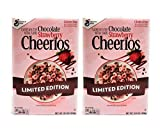 Breakfast Cereal, General Mills Cheerios Chocolate Strawberry Flavor Limited Edition, Sweetened Whole Grain Oat Cereal, Made with Real Cocoa and Gluten Free, Pantry Staple for 2 Packs of 10.9 Oz