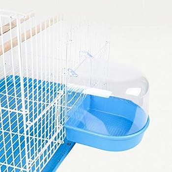 Balacoo Baignoire pour oiseaux, cage pour baignoire, accessoire pour oiseaux, canaris, perroquets