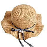 HEETEY Mode-Hut, Kinder Hut Mode handgemachte Urlaub Cap Leisure Sun Straw Cap Fußball Fan Hat Football Club Baseball Cap Stern mit Visor Outdoor Sports Cap