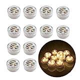 12stk Flammenlose LED Teelicht Kerzen...