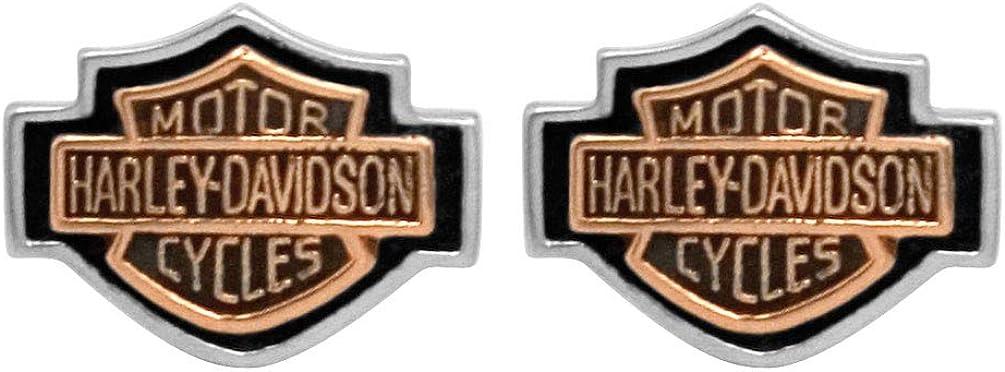 Harley-Davidson Women's Copper Bar Earrings overseas 40% OFF Cheap Sale Post Shield Cameo