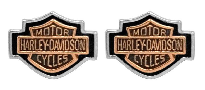Harley-Davidson Women's Copper Bar & Shield Cameo Post Earrings HDE0261 hlcgjwni663145