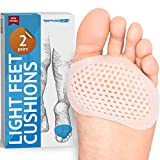 Metatarsal Pads Ball of Foot Cushions - Soft Gel Ball of Foot Pads - Mortons Neuroma Callus Metatarsal Foot...