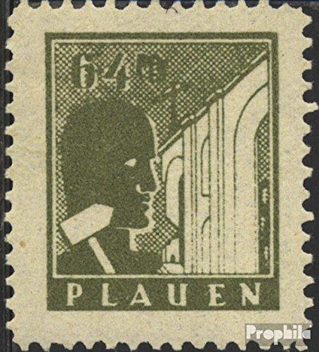 Plauen in Vogtland Mi.-Aantal.: 3w getest, glad Rubber, grof Papier 1945 Ruin (Postzegels voor verzamelaars)