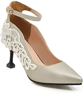 BalaMasa Womens APL11786 Pu Mary Jane Heels