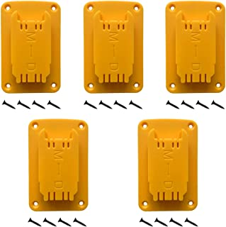 UOSXVC 5Packs Tool Holders for Dewalt 20V 12V Drill Tool Mount Fit for Milwaukee M18 Tools Yellow