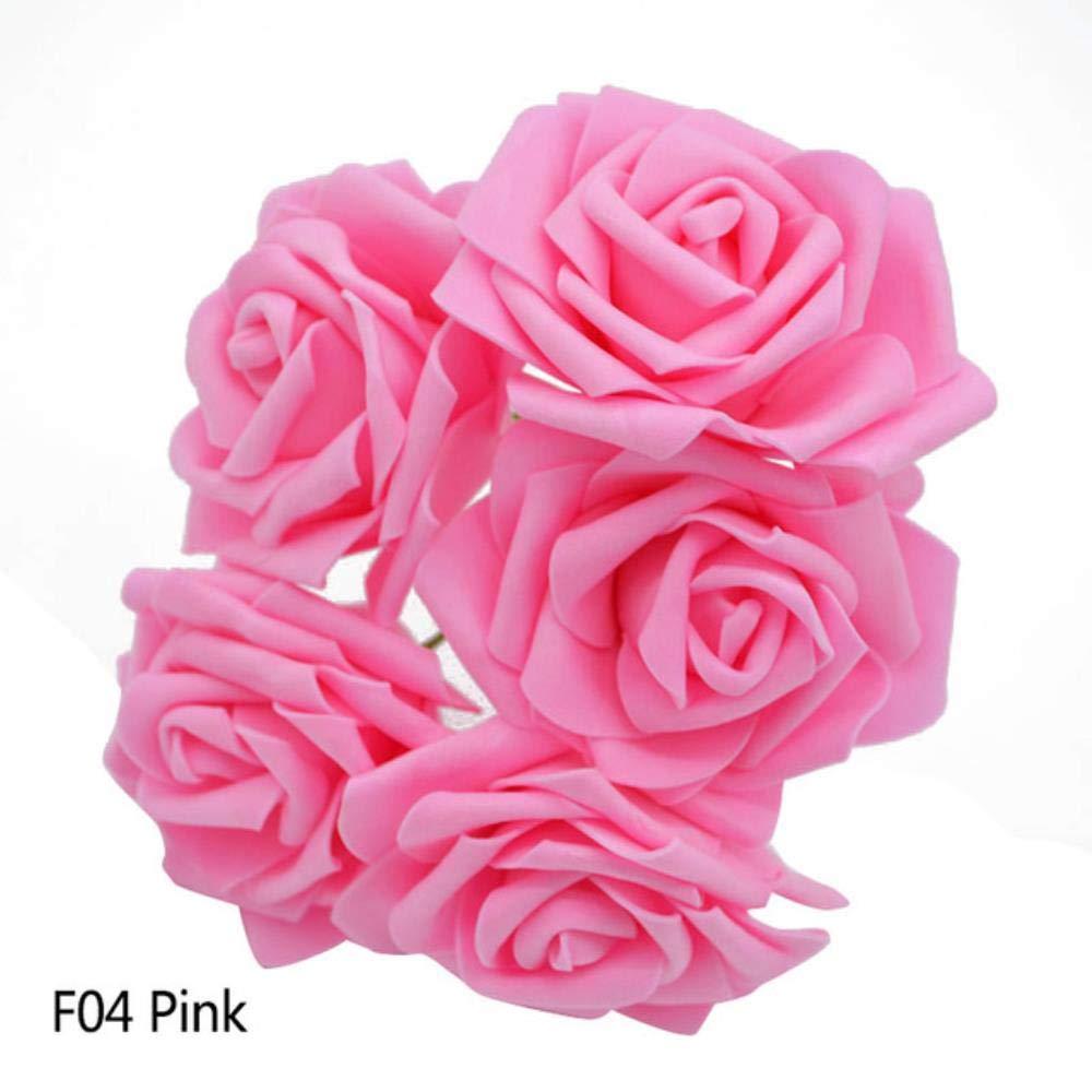 Green Bangle009/Big 50/pcs Faux en Mousse Roses Bouquet de Fleurs artificielles DIY de Mariage Party Decor 1 50pcs