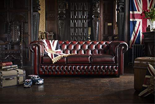 JVmoebel Chesterfield Sofa Ledersofa Couch Garnitur Polster Designersofa Leder Samt NEU