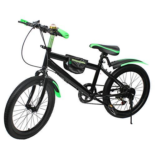 Bici per bambini,Bici per ragazzi,Bicicletta 20 pollici bambino,Bicicletta Convertibile per Bambini,Mountain bike,Bici per giovani,City bike,Freno a doppio disco (Capacità di carico 85 kg) (Verde)
