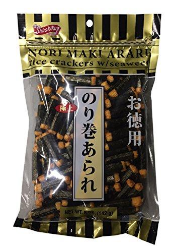 Nori Maki Arare Rice Crackers with Seaweed 5 oz per Pack (2 Pack)