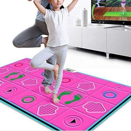GH-YS rutschfeste kabellose Tanzmatte Doppel Yoga Gewichtsverlust Übung Tanzmaschine, Doppelgriff, Lernspielzeug für Mädchen Jungen 112