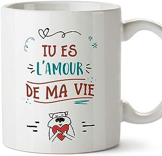 Mugffins Mug/Tasse Saint Valentin (Je t'aime) - tu ES l'amour de ma Vie - Idées Cadeaux Romantique pour Amoureux/Petits Am...