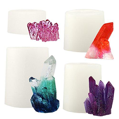 musykrafties - Molde de silicona para drusa de cristales de cuarzo, ideal para resina epoxi, jabón, velas e Isomalt