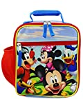 Disney Mickey Mouse Boys Girls Toddler Soft Insulated School Lunch Box (One Size, Red/Blue)