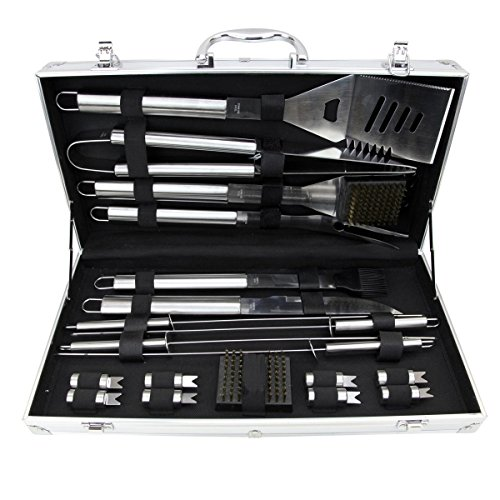 Great Features Of Barbecue Set, 19 Piece Stainless Steel Grilling Utensils, Heavy Duty BBQ Set with ...