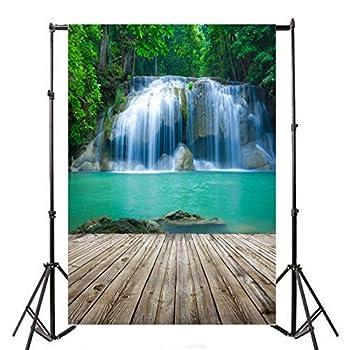 Yeele 6x9ft Waterfall Cascades Photo Backdrops Vinyl Falls Jungle Forest Nature Landscape Travel Scenic Photography Background Photo Shoot Studio Props Video Drop Wallpaper Drape