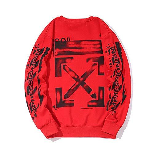 YUESJX Une Nouvelle génération de Printemps Nouveau Pull Col Rond Terry Plus Hommes et Femmes Jeunesse Pull - Rouge - XL
