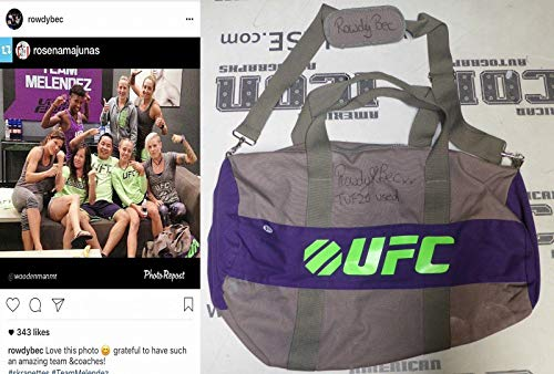 Rowdy Bec Rawlings Signed Personally Used TUF 20 UFC Fight Gym Bag BAS COA Worn - Autographed Event Used Products