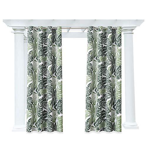 DLMSDG - Cortinas de exterior, cortinas para cenador laterales, muy suaves, impermeables, con trabillas, opacas y antimoho, estampado floral (4 x 2,7 m)