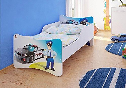 Best For Kids Kinderbett 70x140 mit 10 cm Matratze Tüv Zertifiziert Polizei