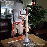 HCDMRE Arab Luxury Extreme Series 041: 27.5'Juego Combinado de mangueras, cachimba, Shisha Pipe Base de Vidrio Material de Madera Pipa de Agua para Fumar Bong