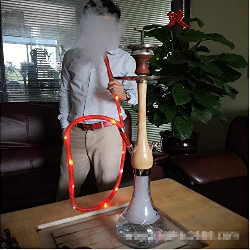 """HCDMRE Arab Luxury Extreme Series 041: 27.5""""Juego Combinado de mangueras, cachimba, Shisha Pipe Base de Vidrio Material de Madera Pipa de Agua para Fumar Bong"""