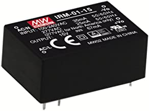 MW Mean Well IRM-01-12 12V 83mA 1W Miniature Encapsulated Type Green Open Frame Power Supplies
