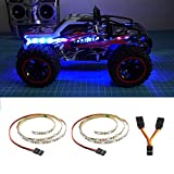 LED Light Strip for RC Fixed Wing Airplane Flying Wing Plane AR Wing Drone Model Car Truck (Blue)