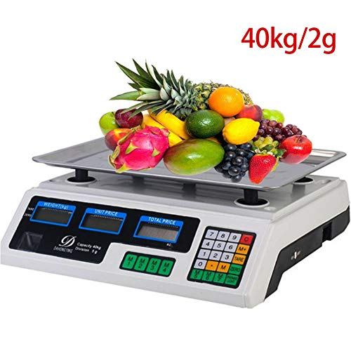 Digital Electronic Scale Price Computing Weighing, 40Kg Digital Weighing Platform Scale for Commercial Shop, Retail…